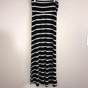 🆕 Promesa | Striped Maxi Skirt